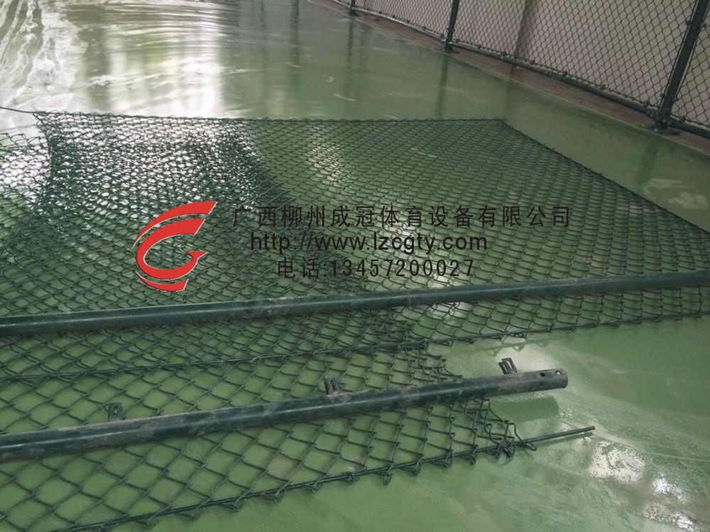 桂林灌阳室内球场,围网施